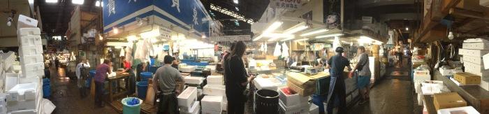 Tokyo fish market panorama