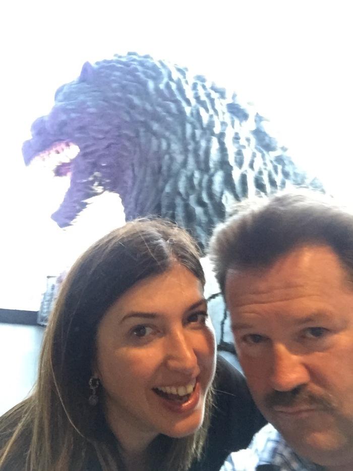 us at Tokyo Godzilla exhibit