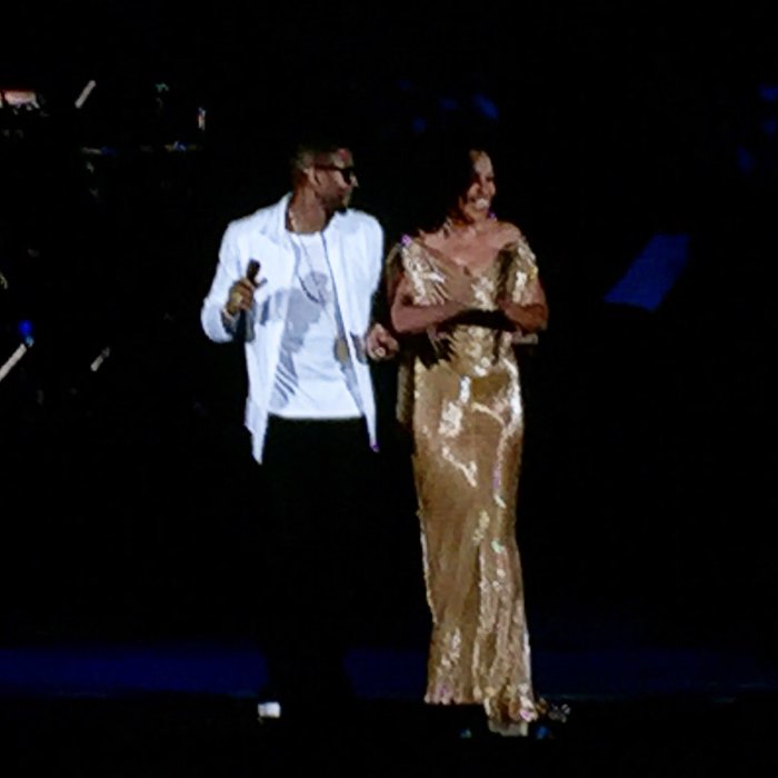 Usher and Diana Ross The Hollywood Bowl