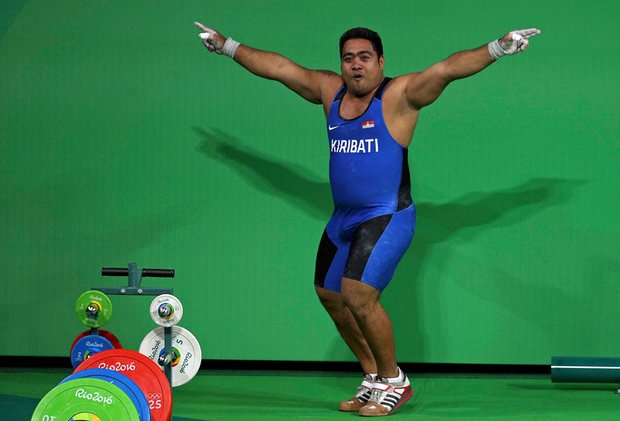 David Kotoatau Olympic Weightlifter dance
