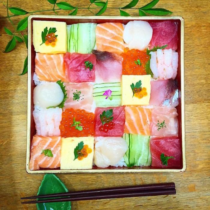 mosaic sushi art