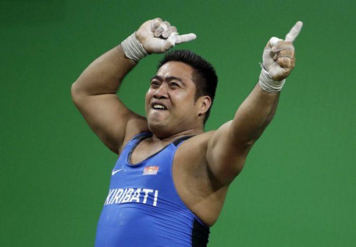 Olympic weightlifter David Kotoatau