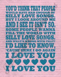 Silly Love Songs lyrics Paul McCartney