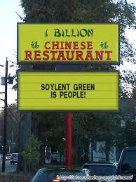 Soylent Green is People sign