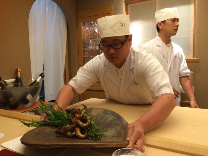 Tokyo grilled Ayu fish Ginza Kojyu