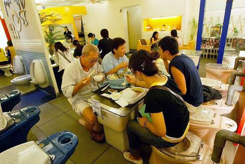 wacky toilet restaurant