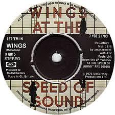 Wings Let 'em In single