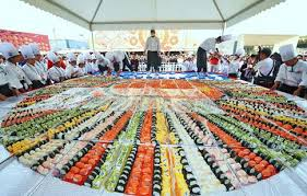 worlds largest sushi mosaic