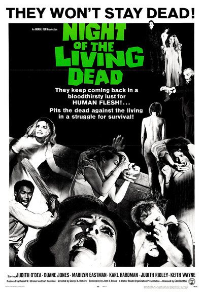 Night of the living dead Cult horror movie poster #3
