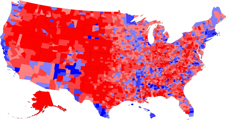 Map Of America Voting.2016 Voting Map Presidential Election Johnrieber