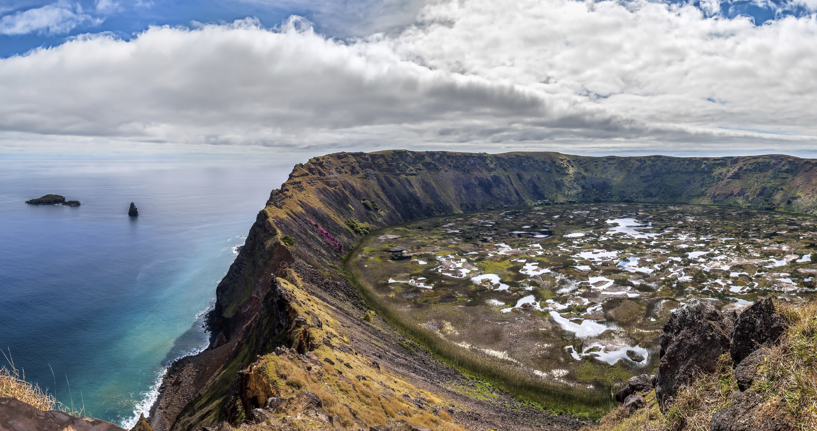 Crater of Rano Kau, Easter Island, Chile