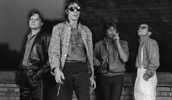 ca. 1983 --- Members of the band Utopia from left to right: Jon Wilcox, Todd Rundgren, Kasim Sulton, and Roger Powell. --- Image by © CORBIS