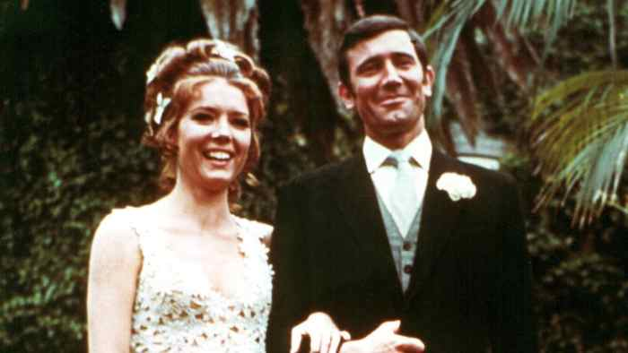 diana-rigg-george-lazenby-007-wedding