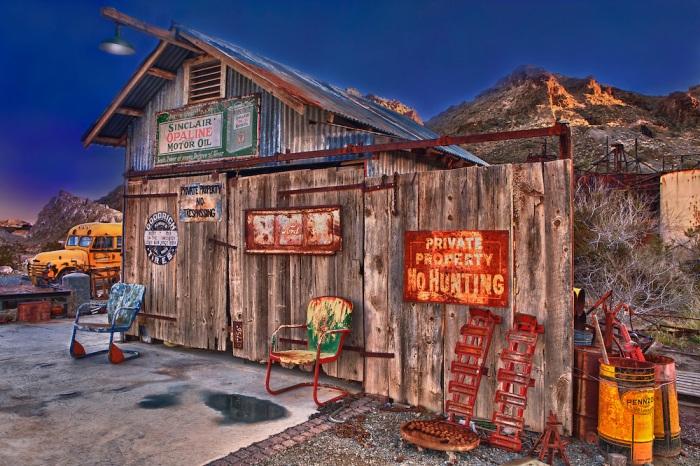 Wooden Shack Of Americana - Eldorado Canyon Techatticup Mine - Nelson NV - HDR