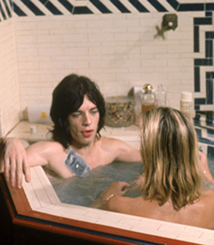 mick jagger in a bathtub
