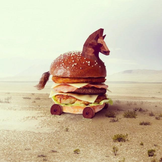 Trojan horse burger