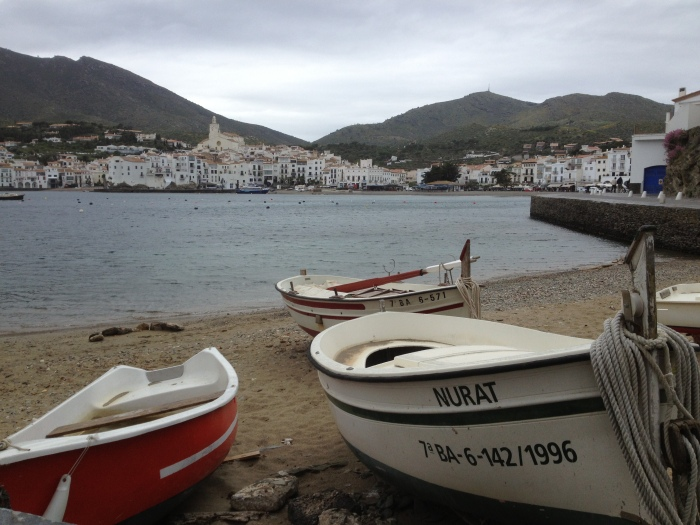Cadaques beach and boats