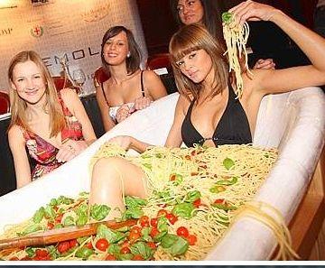 unqiue ramen noodle bath