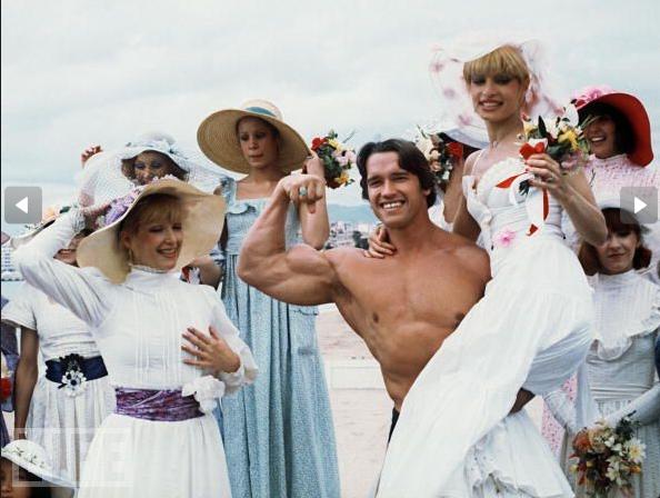 arnold schwarzenegger in cannes 1977