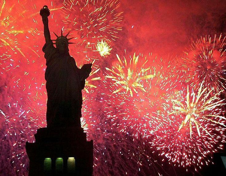 statue of liberty fireworks johnrieber