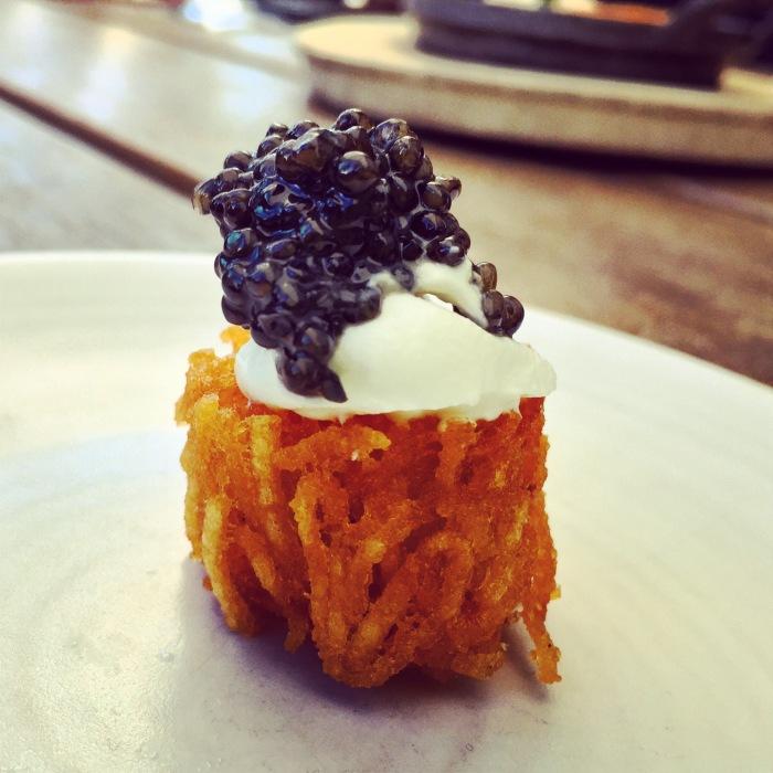 caviar tater tot