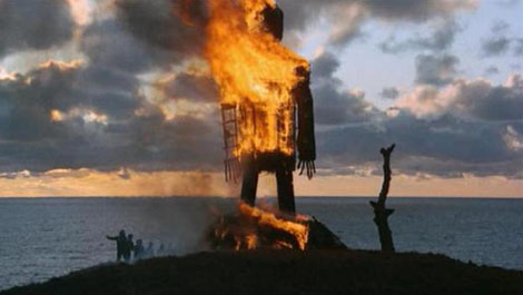 Wicker Man Burning Man