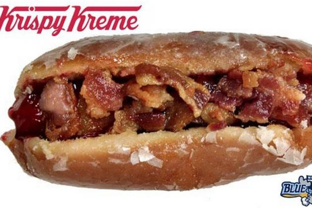 baseball krispy kreme bacon hot dog