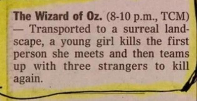 vh wizard of oz plot synopsis dr heckle funny movie descriptions