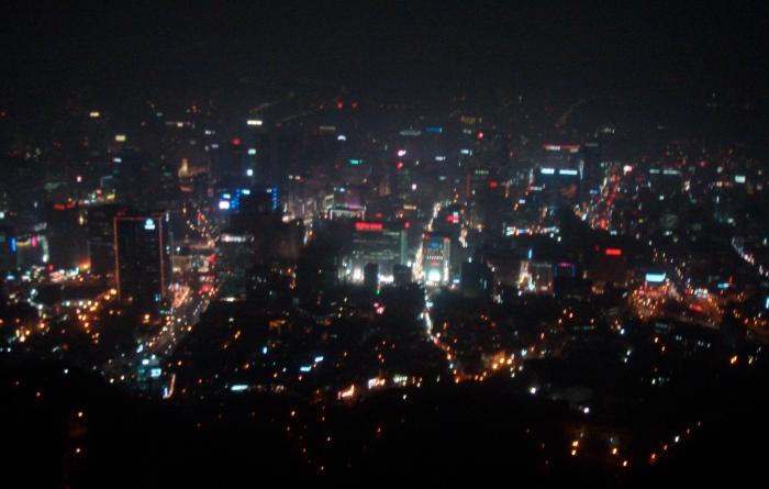 Seoul South Korea at night