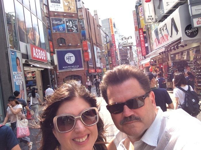 us on the streets of shinkuku daytime