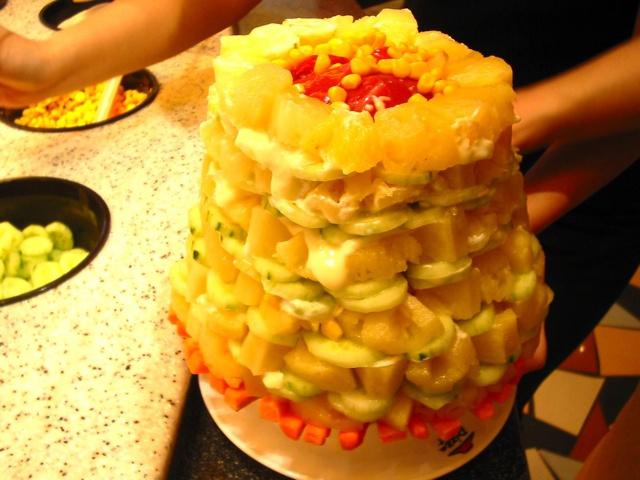 Burger King Chinese salad towers