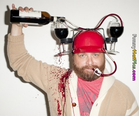 funny wine products wine hat