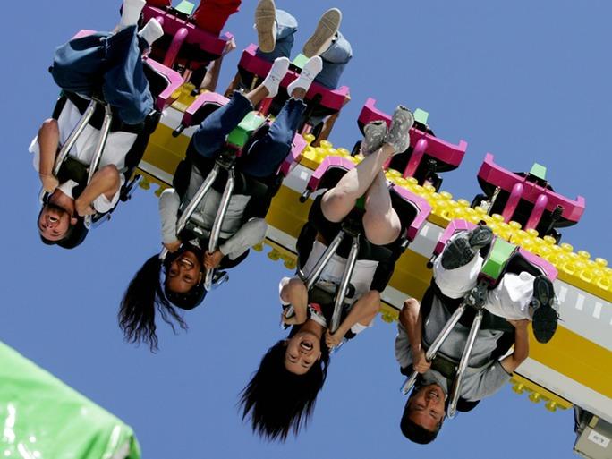 stranded upside down roller coaster