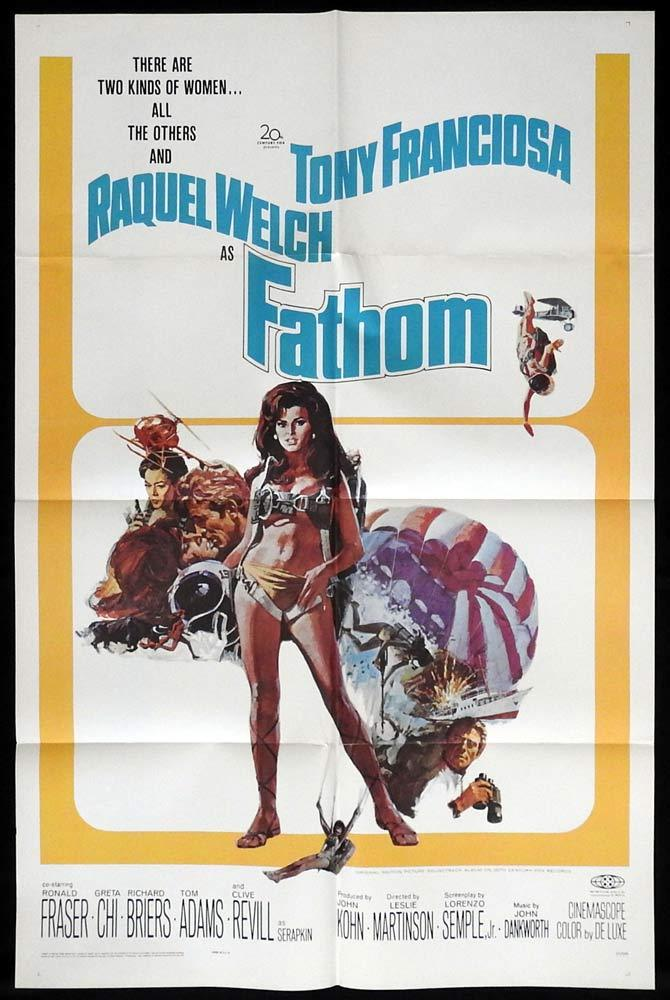 This image has an empty alt attribute; its file name is raquel-welch-fathom.jpg